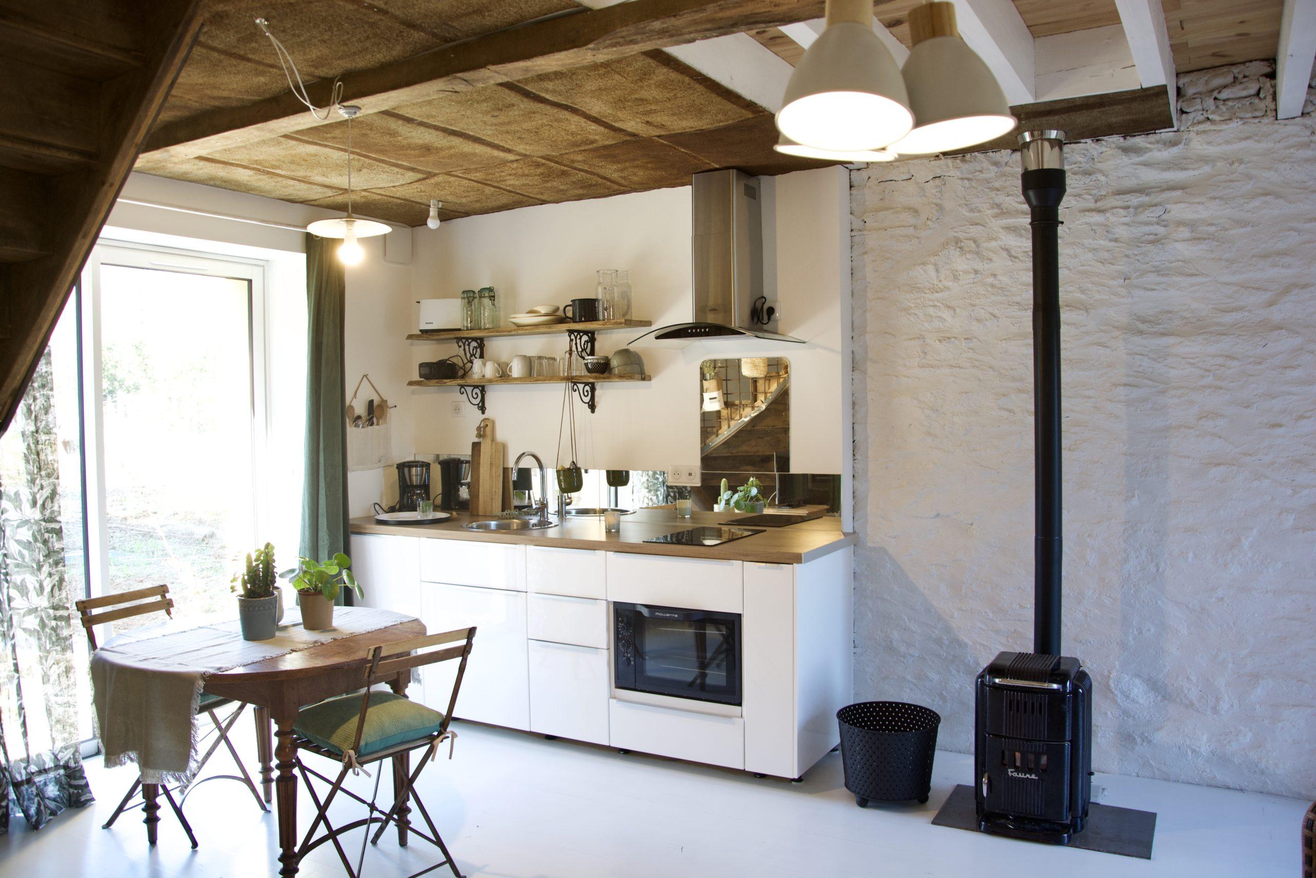 Cuisine gîte Le Petit Atelier - Atelier and Cow