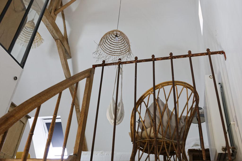 Accès étage gîte Le Petit Atelier - Atelier and Cow