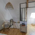 Chambre et salle d'eau gîte Le Petit Atelier - Atelier and Cow