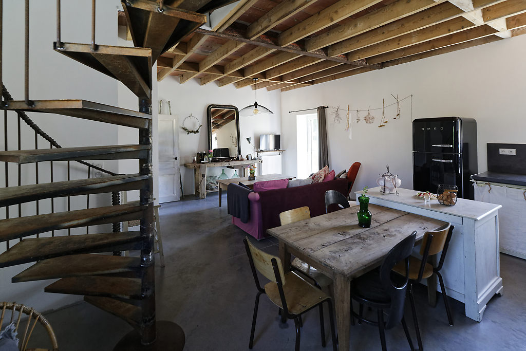 Vue d'ensemble rez-de-chaussée gîte L'Atelier des curiosités - Atelier and Cow