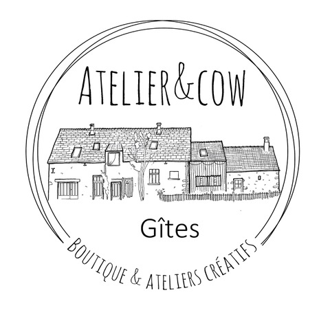 Logo Gîte L'atelier and Cow
